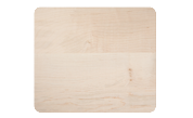 Mini wood cutting board with rounded corners and edges