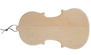 Novelty Violin shaped wood cutting board