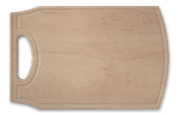 Large wood cutting board with handle and juice groove