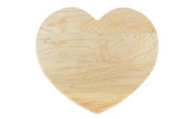 Novelty heart shaped cutting board