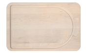 Maple cutting board with faux handle