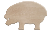 Pig shaped wood cutting board