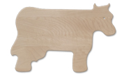 Cow shaped wood cutting board